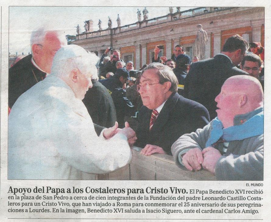 25º Aniversario Pereg. a Lourdes El MundoFebrero 2009