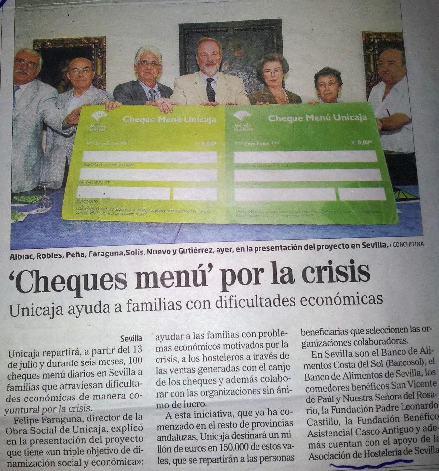 Cheques Crisis Julio 2009
