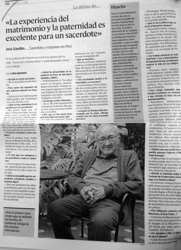 Entevista a Padre Pepe Gavilán Mayo 2010