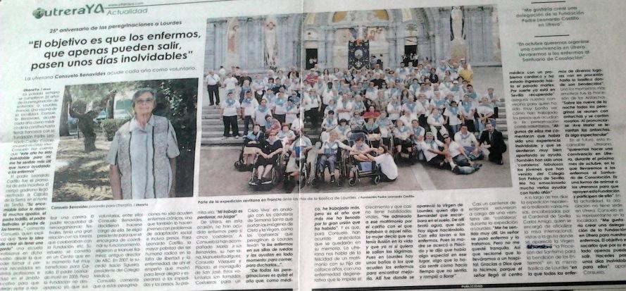 Entrevista a Consuelo Benavides Pereg. Lourdes 2009