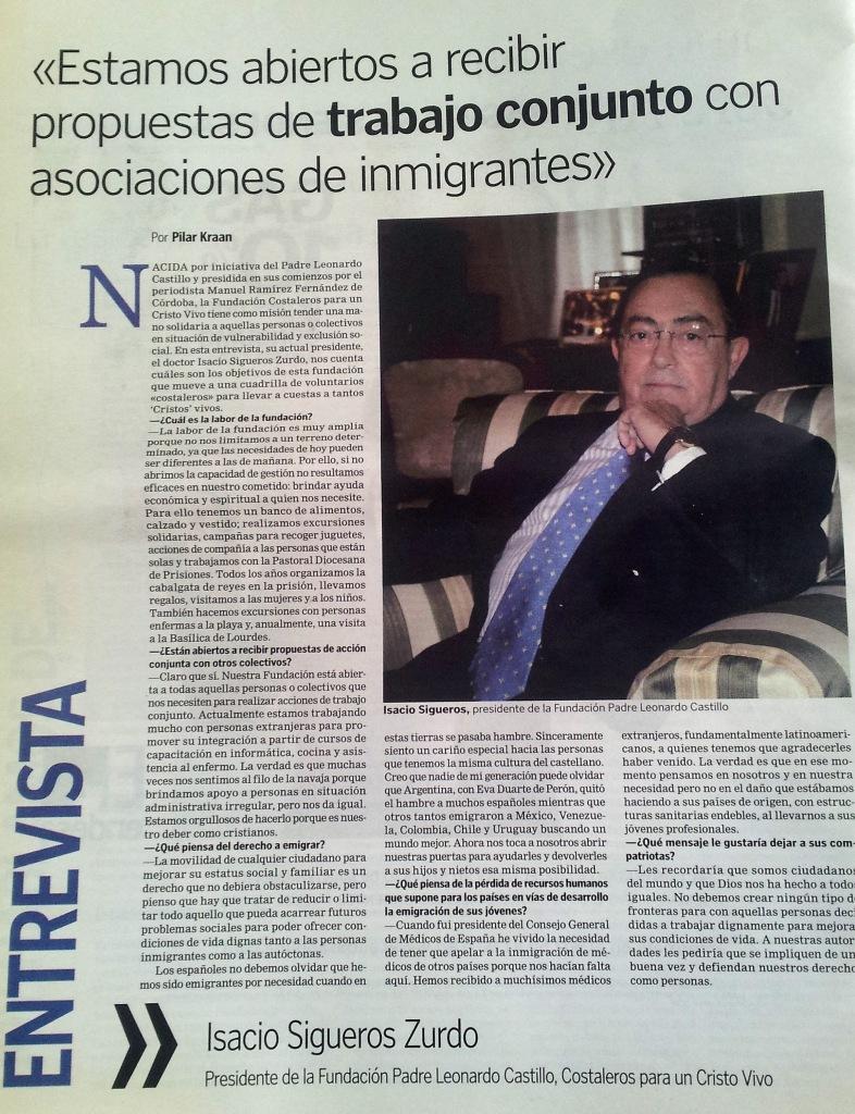 Entrevista a Isacio