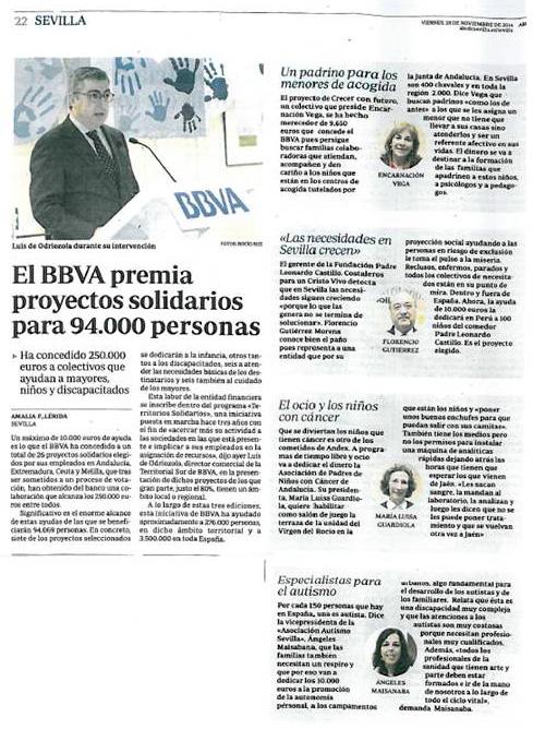Noticia Territorios Solidarios 27 Nov 2014