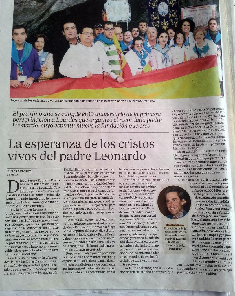 Peregrinación Lourdes 2013