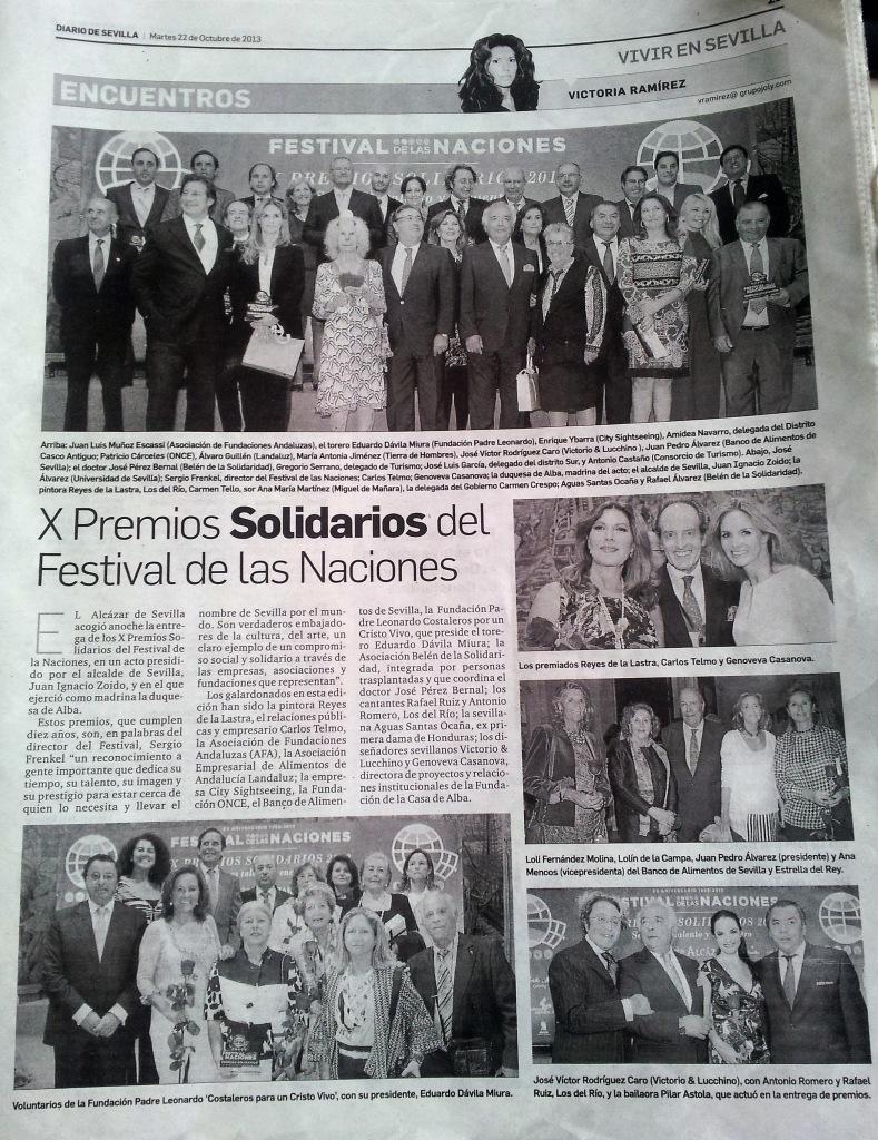 Premios Solidarios 22 Octubre 2013