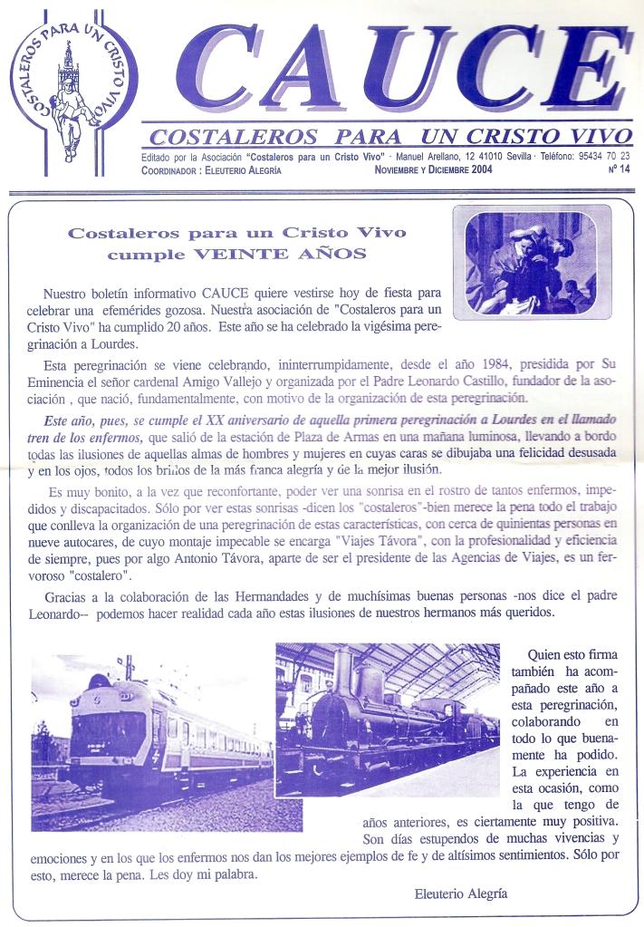 Vigésima Peregrinación a Lourdes 2004